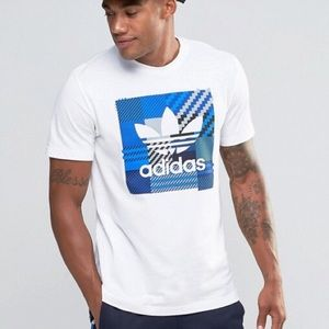 Adidas Originals Impo Check T-Shirt In White